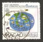 Sellos del Mundo : Asia : Macao : año mundial de telecomunicaciones, diseños infantiles