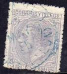 Stamps Europe - Spain -  ESPAÑA 1879 204 Sello Alfonso XII 25c Usado Espana Spain Espagne Spagna