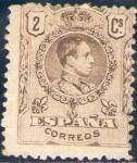 Sellos de Europa - España -  ESPAÑA 1909-22 267 Sello Nuevo * Alfonso XIII Tipo Medallón 2c c/charnela Sin numero de control al d