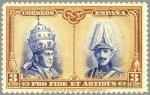 Sellos de Europa - España -  ESPAÑA 1928 404 Sello Nuevo Pro Catacumbas de San Dámaso en Roma Serie para Toledo Pio XI y Alfonso