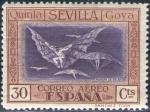 Sellos de Europa - España -  ESPAÑA 1930 523 Sello Nuevo Quinta de Goya en Expo de Sevilla Disparate Volante 30c c/charnela Espan