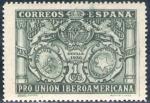 Stamps Spain -  ESPAÑA 1930 566 Sello Nuevo Pro Union Iberoamericana Sevilla Escudos de España Bolivia y Paraguay 1c