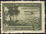 Sellos del Mundo : Europa : España : ESPAÑA 1930 584 Sello ** Pro Union Iberoamericana Sevilla Correo Aereo Argentina Teodoro Fels 1ª