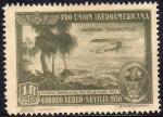 sellos de Europa - España -  ESPAÑA 1930 584 Sello ** Pro Union Iberoamericana Sevilla Correo Aereo Argentina Teodoro Fels 1ª