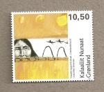Stamps Europe - Greenland -  Arte contemporaneo de Groenlandia
