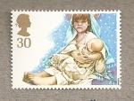 Sellos de Europa - Reino Unido -  Escenas navideñas infantiles