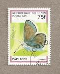 Stamps Benin -  Mariposa Polymmatus icarus