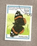 Stamps Benin -  Mariposa Vanessa atalanta