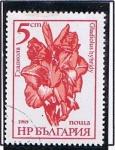 Stamps Bulgaria -  Gladiolos