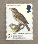Stamps United Kingdom -  Especies en peligro de extinción