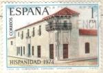 Stamps Spain -  ESPANA 1974 (E2213) Hispanidad - Casa de Sobremonte en Cordoba Argentina 1p INTERCAMBIO