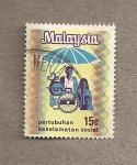 Stamps Malaysia -  Protección social