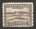 Stamps New Foundland -  fauna, salmón