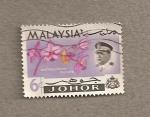 Stamps Malaysia -  Flor Spathoglottis plicata