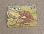 Sellos de Asia - Malasia -  Armadillo Manis javanicus