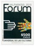 Stamps : America : Chile :  Forum de Valparaíso