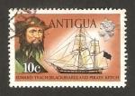 Stamps America - Antigua and Barbuda -  Edward Teach, Barbanegra