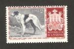 Stamps : Europe : San_Marino :  perro de raza, lebrel ruso