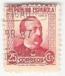 Stamps Spain -  Efigie M. Ruiz Zorrilla. - Edifil 667