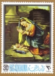 Stamps United Arab Emirates -  RAS AL KHAIMA, Pintura religiosa