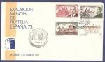Sellos de Europa - España -  SOBRE Exposición Int. Filatelia 1975