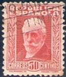 Sellos de Europa - España -  ESPAÑA 1932 659 Sello º Personajes Pablo Iglesias 30c c/nº control dorso Republica Española