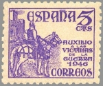 Sellos de Europa - España -  PRO VICTIMAS DE LA GUERRA