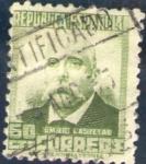 Stamps Europe - Spain -  ESPAÑA 1932 672 Sello Personajes Emilio Castelar 60c Usado Republica Española Espana Spain Espagne