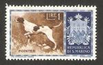 Stamps : Europe : San_Marino :  perro de raza, pointer