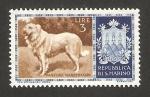 Stamps Europe - San Marino -   perro de raza, pastor  italiano