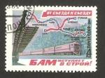 Stamps Russia -  Plan de la red ferroviaria en Siberia