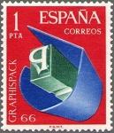Sellos de Europa - España -  SALON DE ARTES GRAFICAS, envase y embaraje