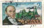 Sellos de Europa - España -  ESPANA 1974 (E2173) 125 Aniversario del Ferrocarril 2p INTERCAMBIO