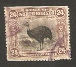Stamps Asia - Malaysia -  borneo del norte - fauna, avestruz