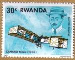 Stamps Africa - Rwanda -  CANARD 14 bis(1906) Santos Dumont