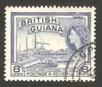 Sellos del Mundo : America : Guyana : elizabeth II, refinería de caña de azúcar
