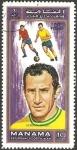 Stamps Asia - United Arab Emirates -  Ajman - Gerson, futbolista de la Selección de Brasil