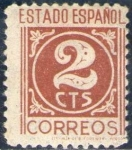 Sellos de Europa - España -  ESPAÑA 1938 815 Sello Nuevo Cifras 2c Espana Spain Espagne Spagna Spanje Spanien