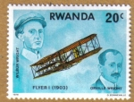 Stamps Africa - Rwanda -  Flyer I (1903) Orville Wrigh