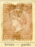 Stamps Spain -  Isabel II Ed 1868