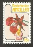 Stamps America - Netherlands Antilles -  flor de las antillas, delonix regia