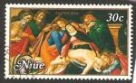 Sellos de Oceania - Nueva Zelanda -  niue - semana santa, pintura de sandro botticelli