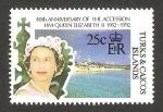 Sellos del Mundo : America : Islas_Turcas_y_Caicos : 40 anivº de la subida al trono de la reina elizabeth II