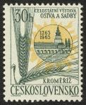 Sellos de Europa - Checoslovaquia -  REPUBLICA CHECA - Jardines y castillo de Kroměříž