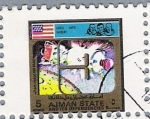 Stamps United Arab Emirates -  Conquista de la Luna