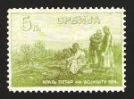 Stamps Europe - Serbia -  El Rey Pedro, en el campo de batalla