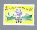 Sellos de Asia - Maldivas -  100 th Anniversary UPU