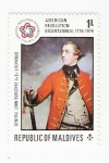 Stamps Asia - Maldives -  American Revolution Bicentennial 1776-1976 (repetido)