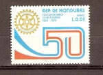 Sellos de America - Honduras -  CLUB  ROTARIO
