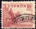 Stamps Spain -  ESPAÑA 1940 917 Sello Rodrigo Diaz de Vivar El Cid 10c usado Spain Espagne Spagna Spanje Spanien